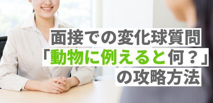 面接での変化球質問「動物に例えると何?」の攻略方法の画像
