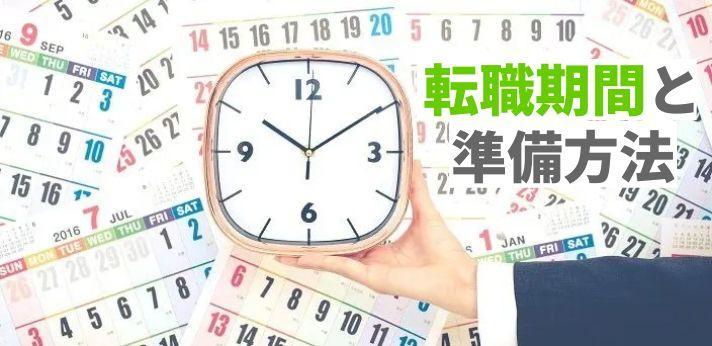 転職にかかる期間はどのくらい?転職期間と準備方法の画像